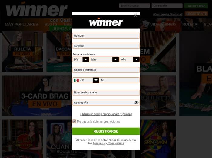 winner registro